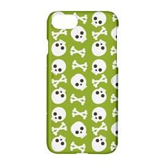 Skull Bone Mask Face White Green Apple Iphone 8 Hardshell Case