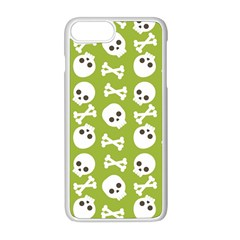 Skull Bone Mask Face White Green Apple Iphone 8 Plus Seamless Case (white)