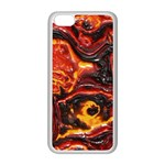Lava Active Volcano Nature Apple iPhone 5C Seamless Case (White) Front