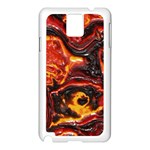 Lava Active Volcano Nature Samsung Galaxy Note 3 N9005 Case (White) Front
