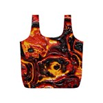 Lava Active Volcano Nature Full Print Recycle Bags (S)  Back