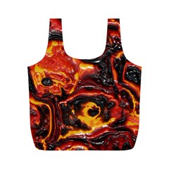 Lava Active Volcano Nature Full Print Recycle Bags (m)