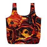 Lava Active Volcano Nature Full Print Recycle Bags (L)  Front