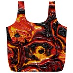 Lava Active Volcano Nature Full Print Recycle Bags (L)  Back