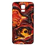 Lava Active Volcano Nature Samsung Galaxy S5 Back Case (White) Front