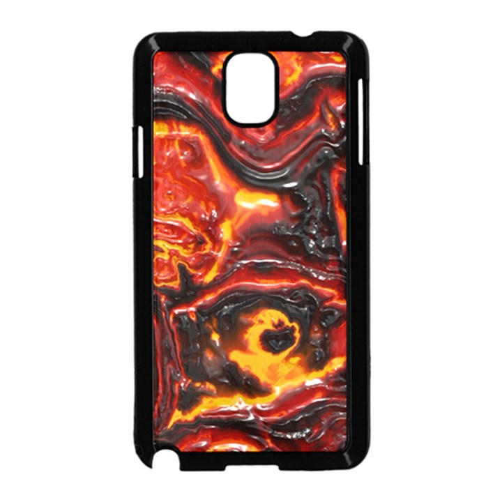 Lava Active Volcano Nature Samsung Galaxy Note 3 Neo Hardshell Case (Black)