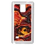 Lava Active Volcano Nature Samsung Galaxy Note 4 Case (White) Front