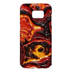 Lava Active Volcano Nature Samsung Galaxy S7 Edge Hardshell Case