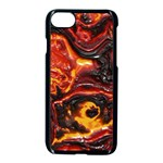 Lava Active Volcano Nature Apple iPhone 8 Seamless Case (Black) Front
