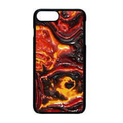 Lava Active Volcano Nature Apple Iphone 8 Plus Seamless Case (black)