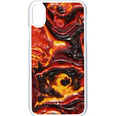 Lava Active Volcano Nature Apple Iphone X Seamless Case (white)