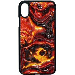 Lava Active Volcano Nature Apple Iphone X Seamless Case (black)
