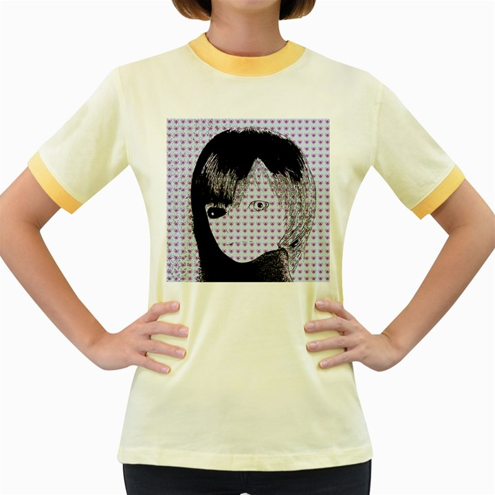 Heartwill Women s Fitted Ringer T-Shirts
