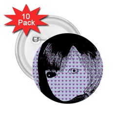 Heartwill 2 25  Buttons (10 Pack)