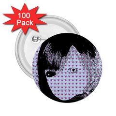 Heartwill 2 25  Buttons (100 Pack)