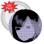 Heartwill 3  Buttons (100 pack)  Front