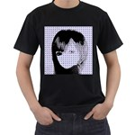 Heartwill Men s T-Shirt (Black) (Two Sided) Front