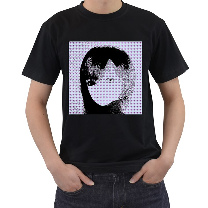 Heartwill Men s T-Shirt (Black) (Two Sided)