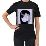 Heartwill Women s T-Shirt (Black) (Two Sided) Front