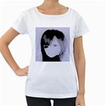 Heartwill Women s Loose-Fit T-Shirt (White) Front