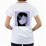 Heartwill Women s Loose-Fit T-Shirt (White) Back
