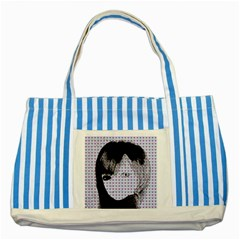 Heartwill Striped Blue Tote Bag