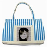 Heartwill Striped Blue Tote Bag Front