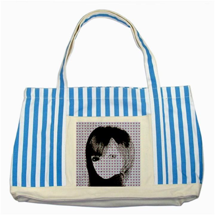 Heartwill Striped Blue Tote Bag