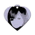 Heartwill Dog Tag Heart (Two Sides) Front