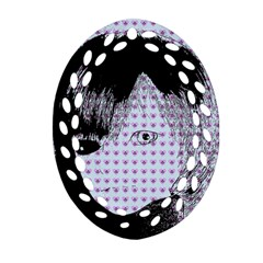 Heartwill Oval Filigree Ornament (two Sides)