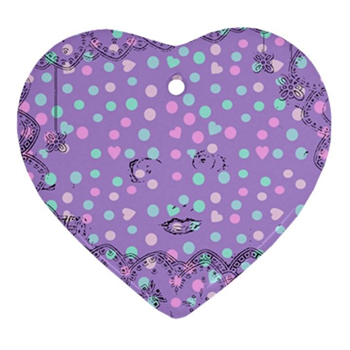Little Face Ornament (Heart)
