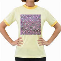 Little Face Women s Fitted Ringer T Shirts