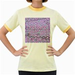 Little Face Women s Fitted Ringer T-Shirts Front