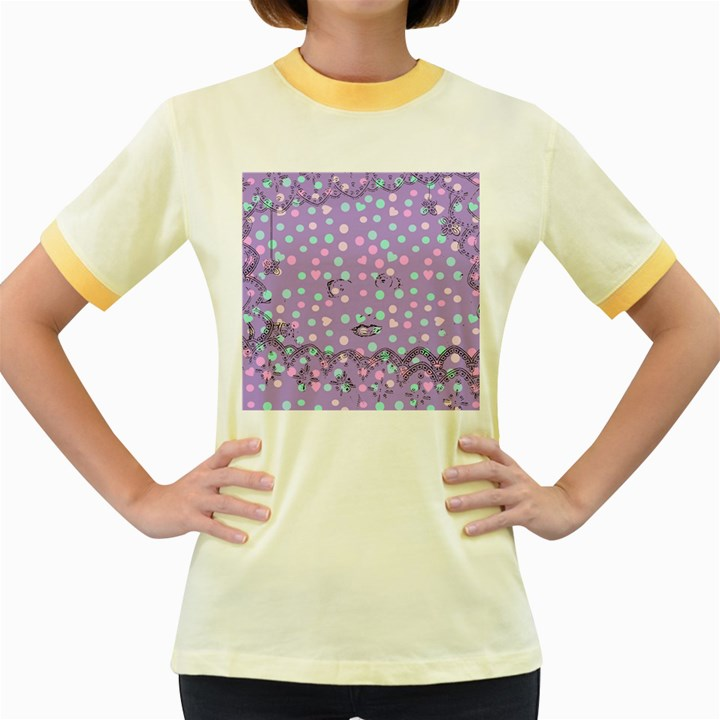 Little Face Women s Fitted Ringer T-Shirts