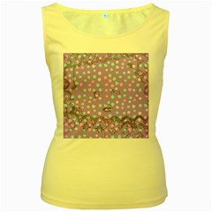 Little Face Women s Yellow Tank Top