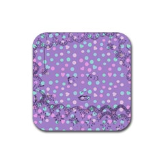 Little Face Rubber Coaster (square)