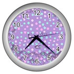 Little Face Wall Clocks (Silver)  Front
