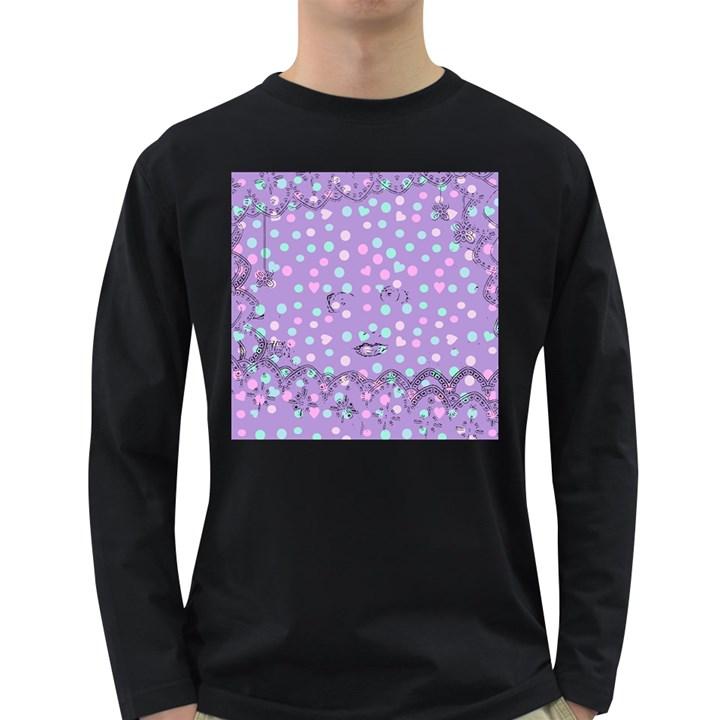 Little Face Long Sleeve Dark T-Shirts