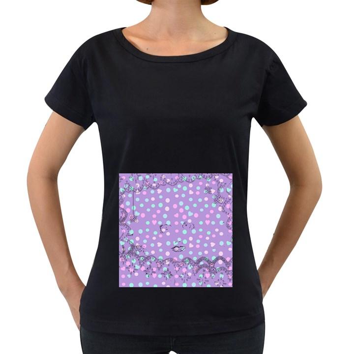Little Face Women s Loose-Fit T-Shirt (Black)