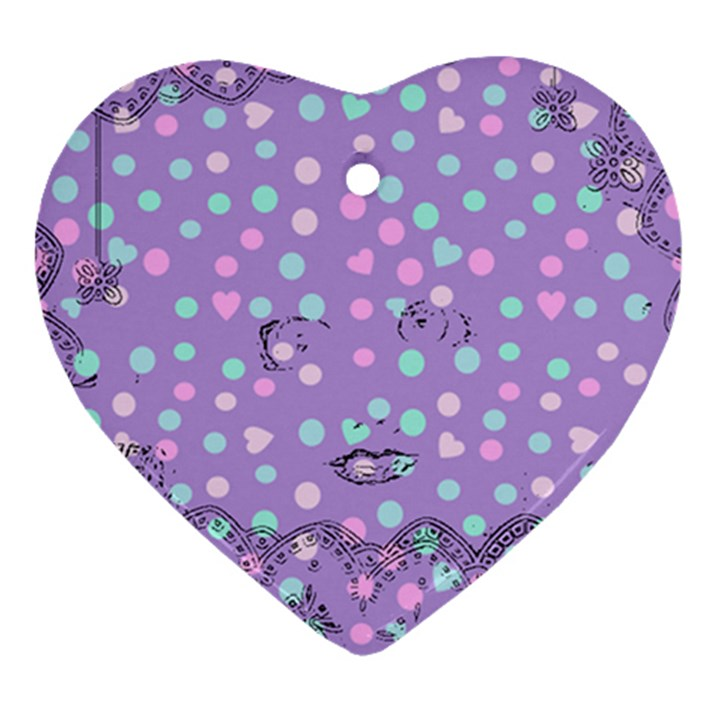 Little Face Heart Ornament (Two Sides)