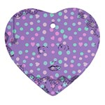 Little Face Heart Ornament (Two Sides) Back