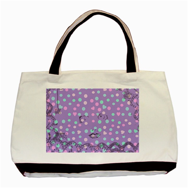 Little Face Basic Tote Bag (Two Sides)