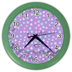 Little Face Color Wall Clocks