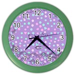 Little Face Color Wall Clocks Front