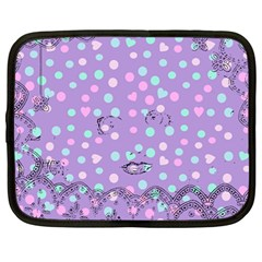 Little Face Netbook Case (large)