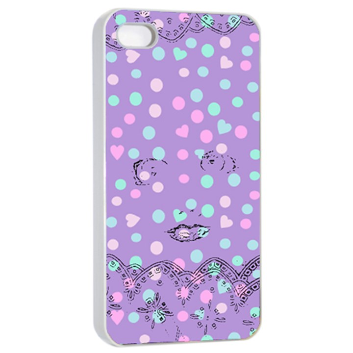 Little Face Apple iPhone 4/4s Seamless Case (White)