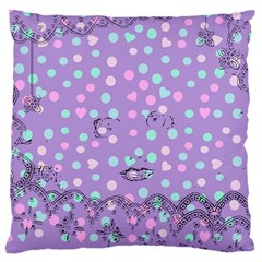 Little Face Large Cushion Case (one Side)