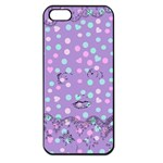 Little Face Apple iPhone 5 Seamless Case (Black) Front