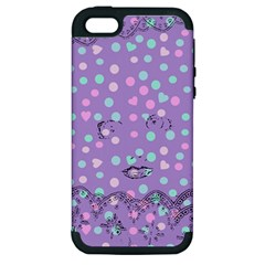 Little Face Apple Iphone 5 Hardshell Case (pc+silicone)