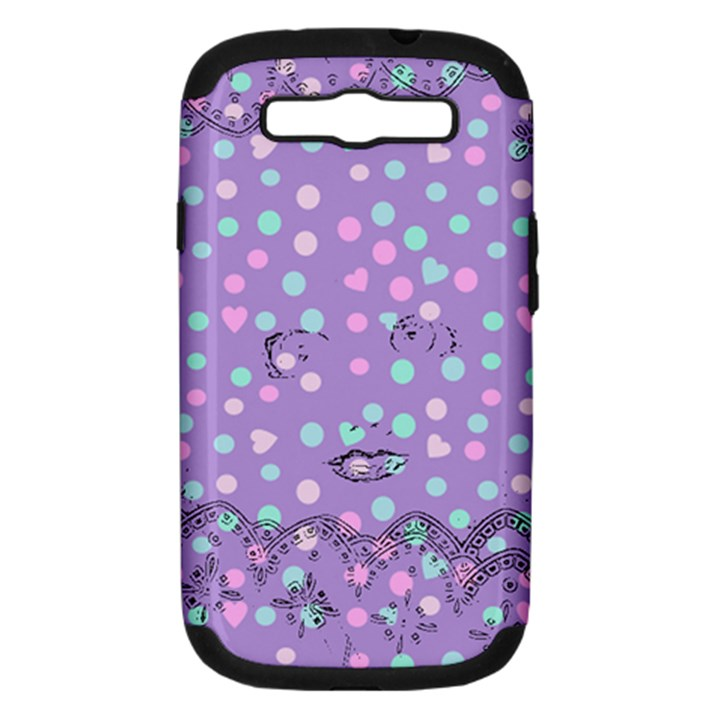 Little Face Samsung Galaxy S III Hardshell Case (PC+Silicone)